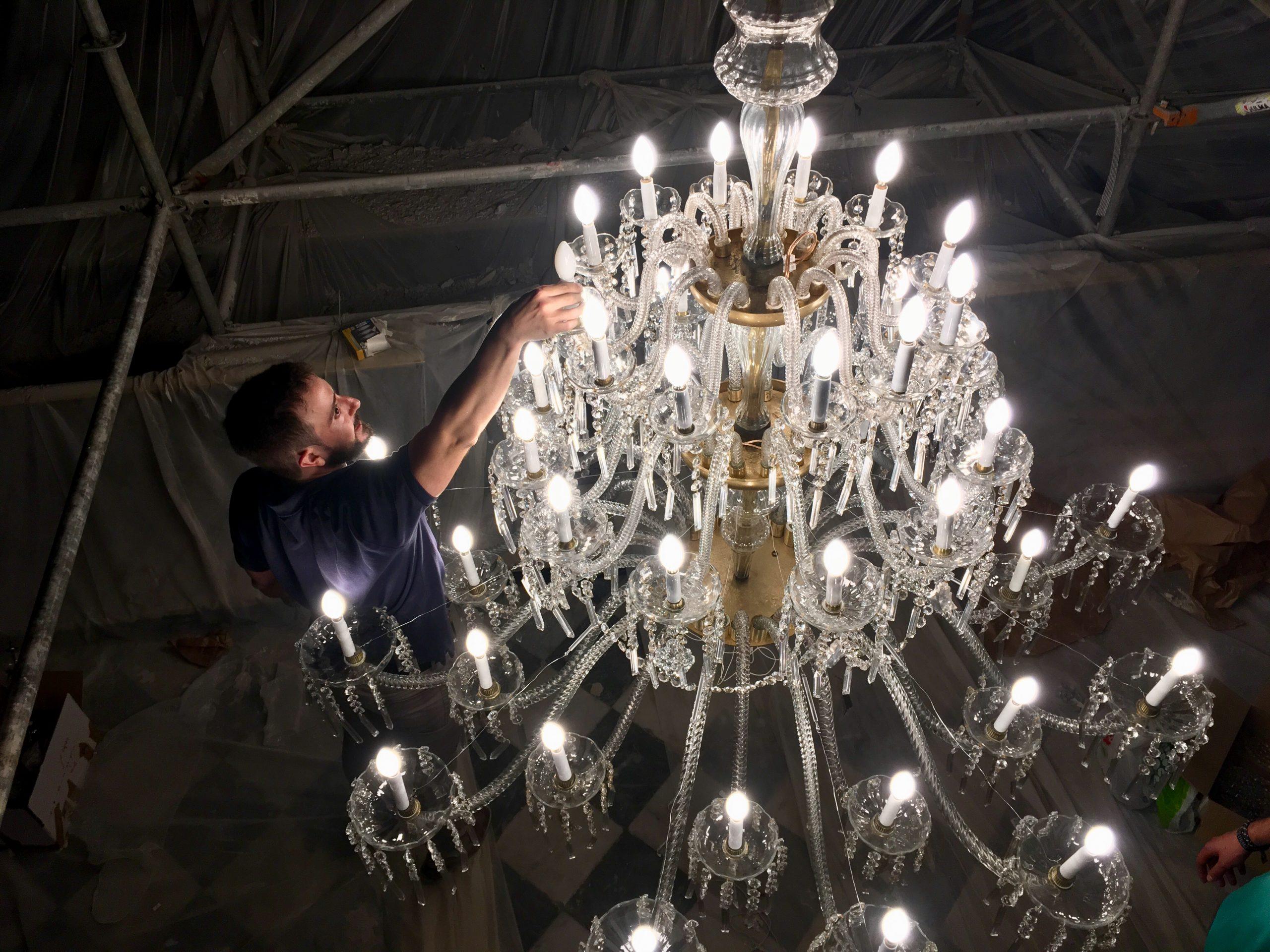 Restauracion lampara araña