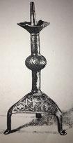 Fig. 5.- Candelabro de siete brazos. Obra medieval, por los años 1200. Altura 4,7 m, sin la base de mármol. (Catedral de Milán.)