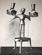 Fig. 8.- Candelabro gótico. Obra de Alemania del Sur. Finales siglo XIV. (Bayerisches Nationalmuseum. Munich.)