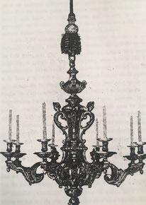 Fig. 6. -Lámpara estilo Luis XIV. (A. Charles Boulle.)