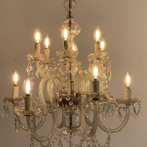 Lámpara araña de cristal