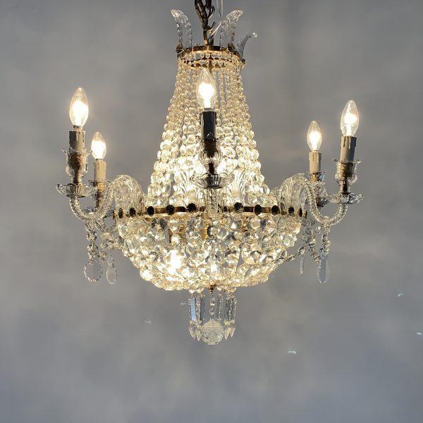 Lámpara cesta imperio de cristal