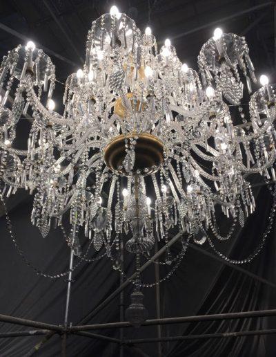 reparación lámpara de cristal