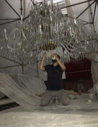 restauración lámpara de cristal