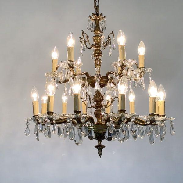 lamparas de techo antiguas bronce y cristal